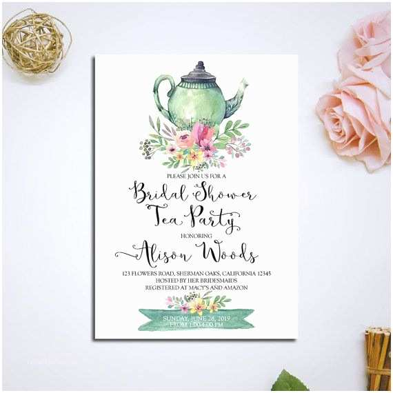 Tea Party Wedding Invitations Best 25 Tea Party Invitations Ideas On Pinterest