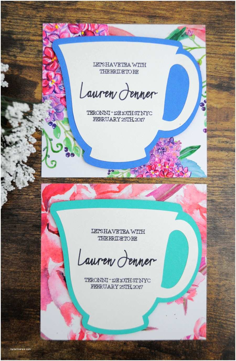 Tea Party Wedding Invitations Bridal Shower Tea Party Invitations – Gangcraft