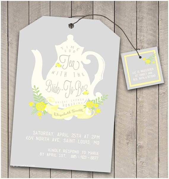 Tea Party Wedding Invitations Diy Printable Vintage Tea Party Bridal Shower Invitation
