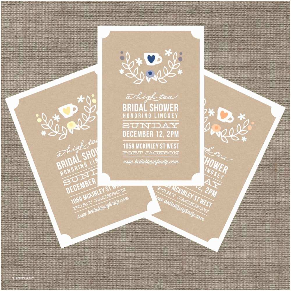 Tea Party Wedding Invitations Item Details