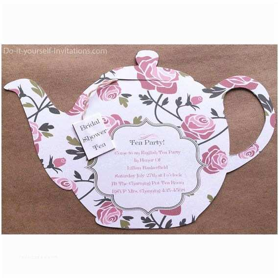 Tea Party Wedding Invitations Printable Tea Party Invitation Bridal Tea Party