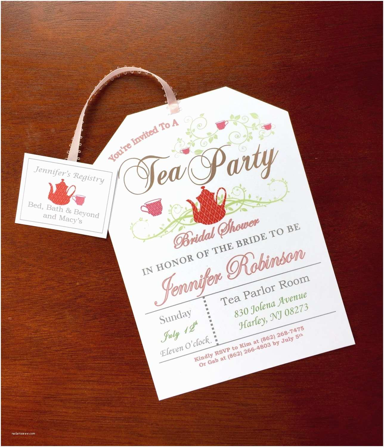Tea Party Wedding Invitations Tea Party Bridal Shower Invitations