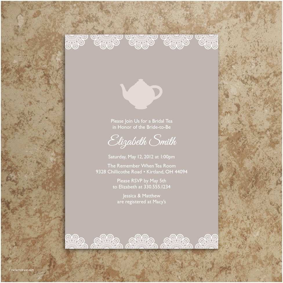 Tea Party Wedding Invitations Tea Party Invitation Printable Pdf Tea Party Invite Baby