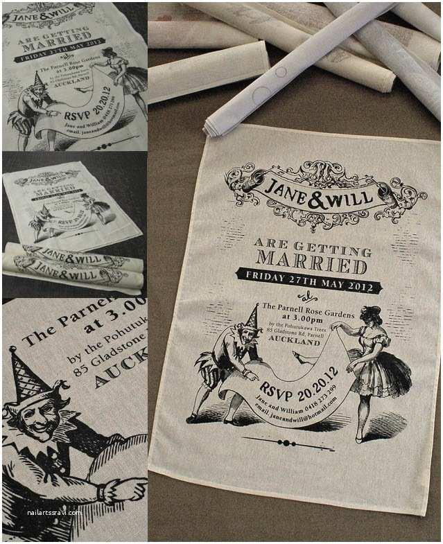 Tea Towel Wedding Invitations 1000 Ideas About Wedding Invitation Keepsake On