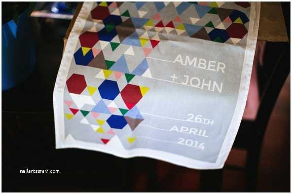 Tea towel Wedding Invitations Amber & John S Wes anderson Inspired Wedding Nouba