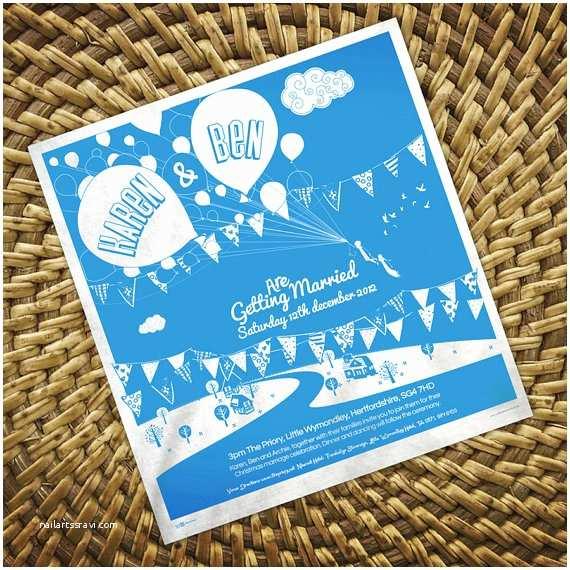 Tea towel Wedding Invitations Invitation Tea towels Handmade Wedding