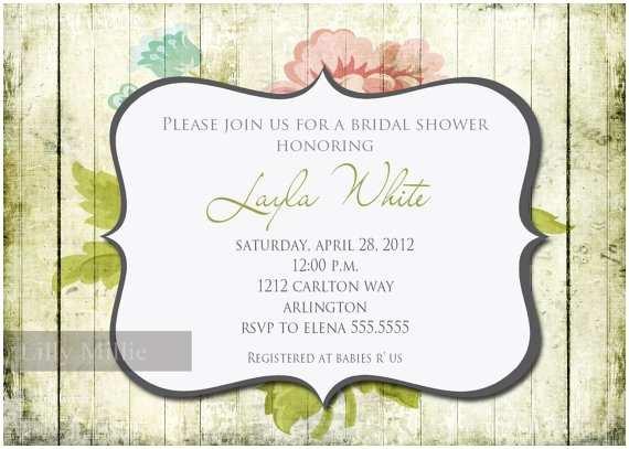 Tea Towel Wedding Invitations Kitchen Tea Towel Floral Bridal Shower Rustic