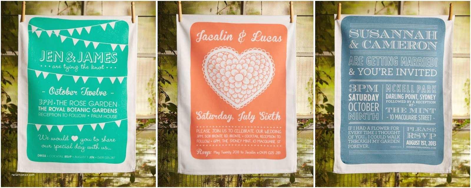 Tea Towel Wedding Invitations Our Love In October Detail Love Invitation Tea