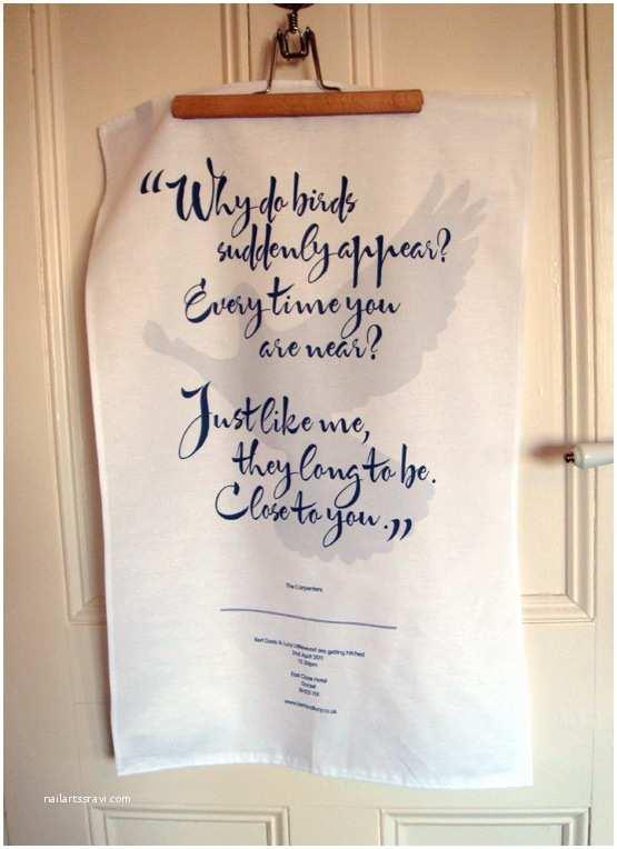 Tea towel Wedding Invitations Personal First Dance Tea towel Wedding Invites • Franklyn