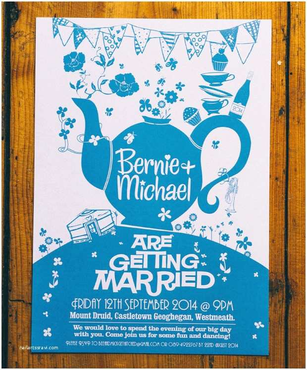 Tea Towel Wedding Invitations Super Style & New Ideas What You