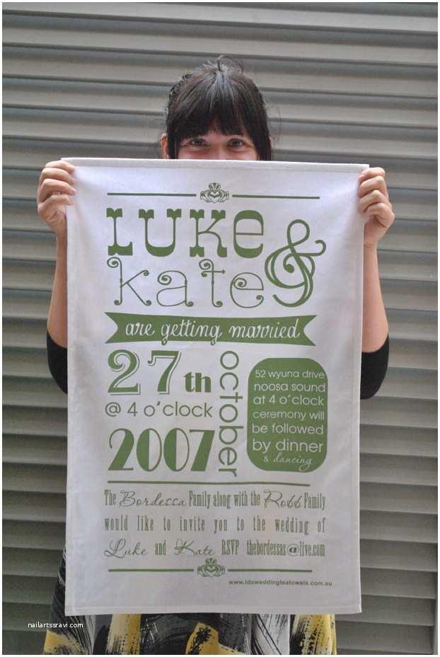 Tea towel Wedding Invitations Tea towel Wedding Invitations the Bride S Tree