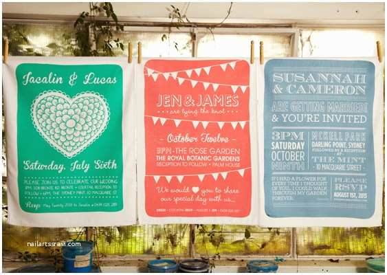 Tea Towel Wedding Invitations Wedding Ideas For Tea
