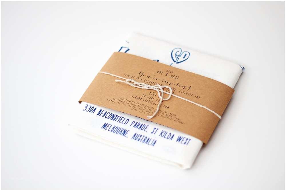 Tea Towel Wedding Invitations Wedding Invitations – Big Picture