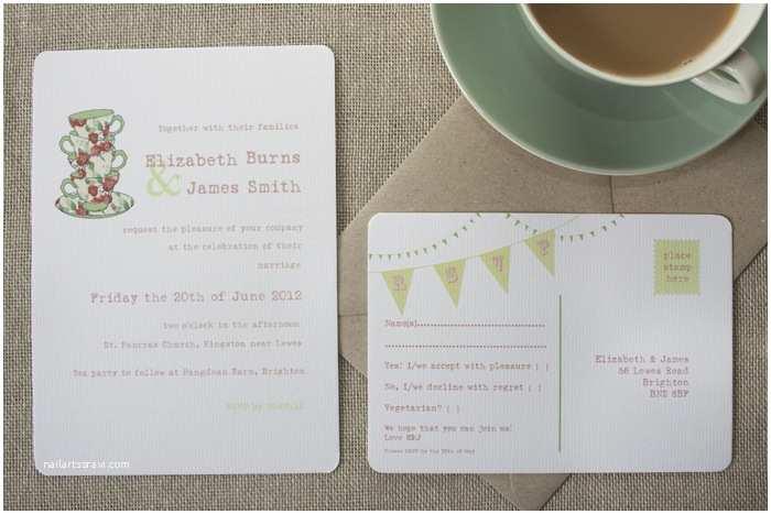 Tea Towel Wedding Invitations Wedding Tea Towel