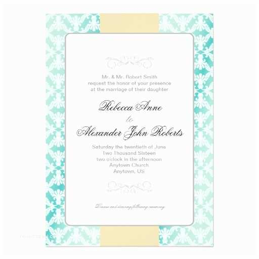 Teal Wedding Invitations Teal and Gold Wedding Invitations