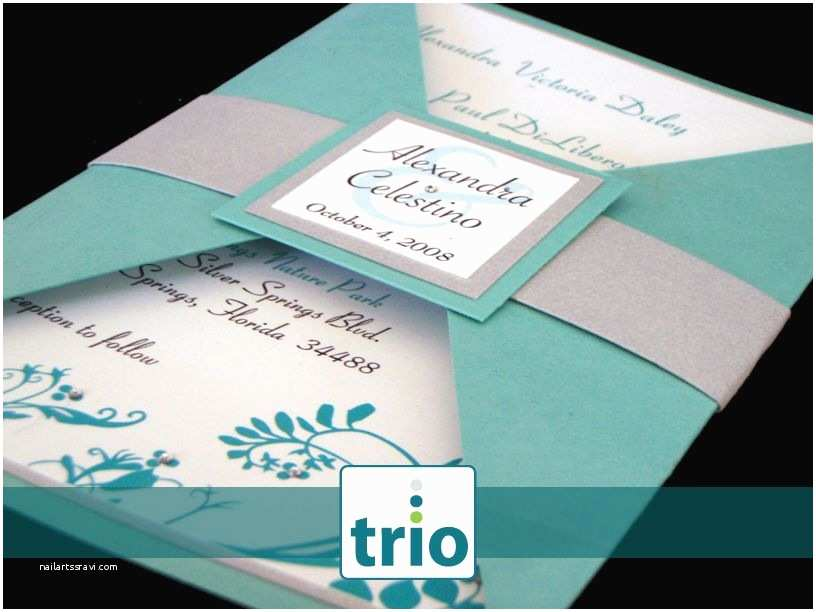 Teal Wedding Invitations Teal and Silver Wedding Invitations