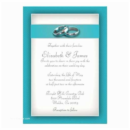 "Teal Wedding Invitations Teal Wedding Invitations 5"" X 7"" Invitation Card"