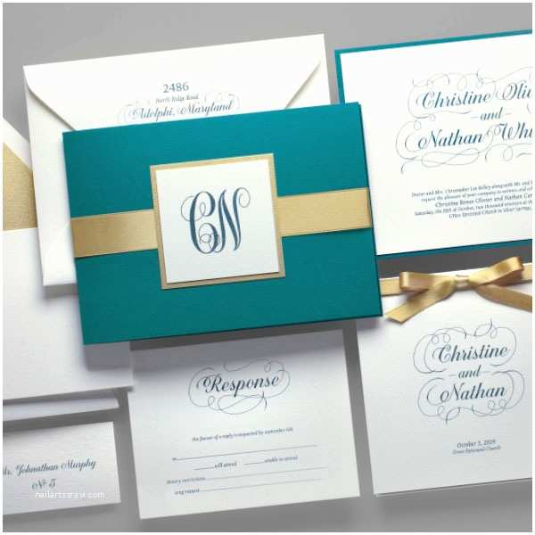 Teal Wedding Invitations Teal Wedding Invitations Yaseen for