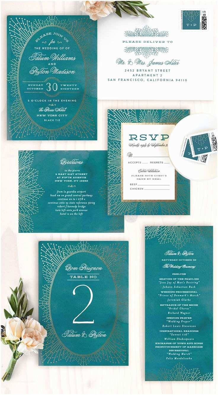 Teal Wedding Invitations the Knot X Minted Wedding Ideas 10 Handpicked Ideas to