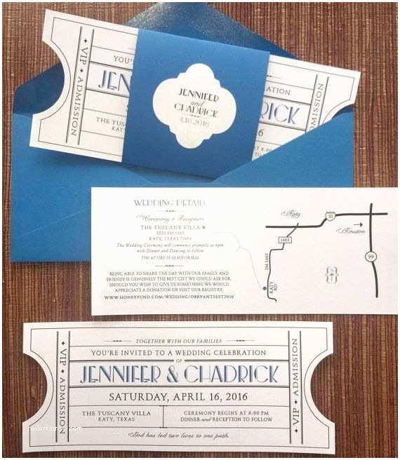 Tear Off Rsvp Wedding Invitations Vintage Ticket Wedding Invitation Suite Cinema