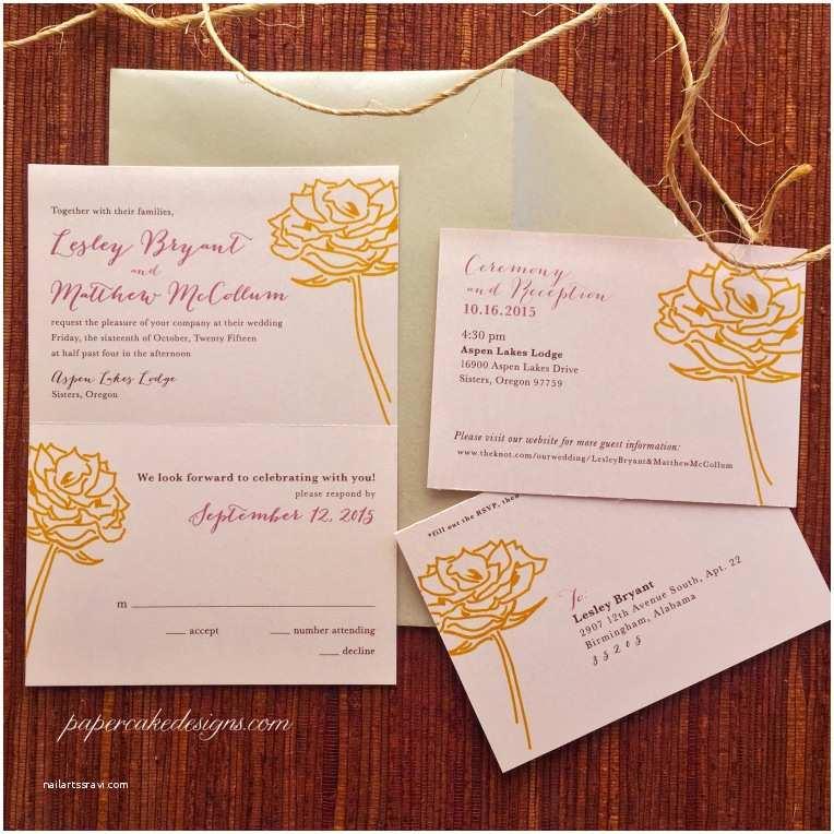 Tear Off Rsvp Wedding Invitations Wedding Invitations – Papercake Designs