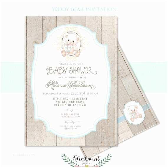 Teddy Bear Baby Shower Invitations Printable Invitations Baby Shower Invitation Teddy Bear