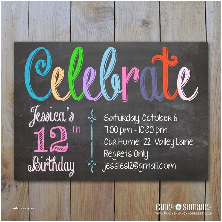 Teen Birthday Invitations 1000 Images About Invitations On Pinterest