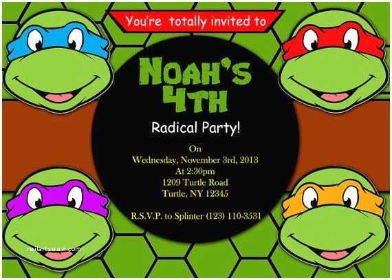 Teenage Mutant Ninja Turtles Birthday Invitations 47 Best Images About Ninja Turtles Party On