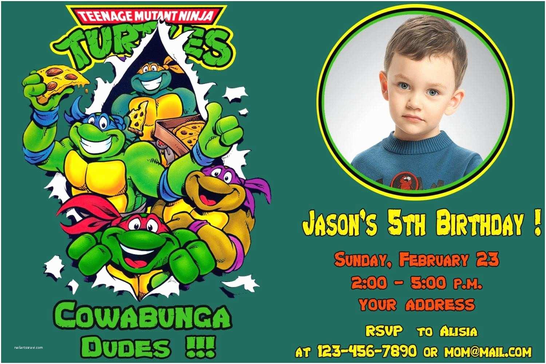 Teenage Mutant Ninja Turtles Birthday Invitations Birthday Party Invitations Outstanding Teenage Mutant