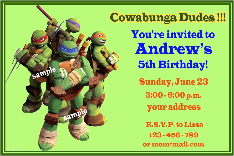 Teenage Mutant Ninja Turtles Birthday Invitations Chandeliers & Pendant Lights
