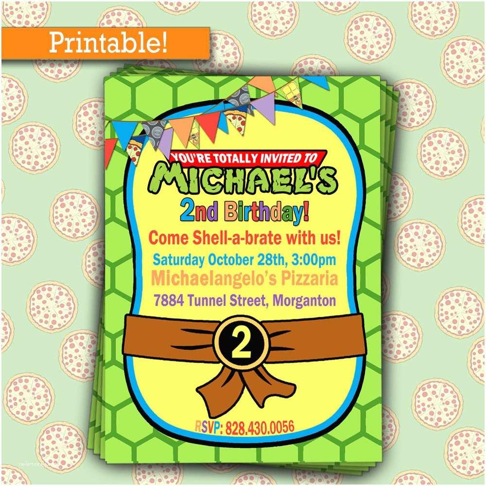 Teenage Mutant Ninja Turtles Birthday Invitations Personalize Teenage Mutant Ninja Turtles