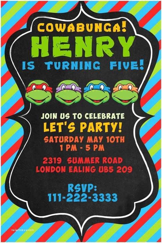 Teenage Mutant Ninja Turtles Birthday Invitations Pinterest • the World's Catalog Of Ideas