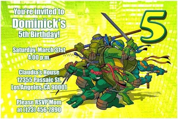 Teenage Mutant Ninja Turtles Birthday  Printable Tmnt
