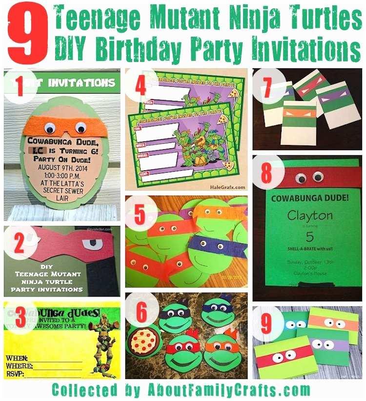 Teenage Mutant Ninja Turtles Birthday Invitations Teenage Mutant Ninja Turtles Party Invitations – Gangcraft