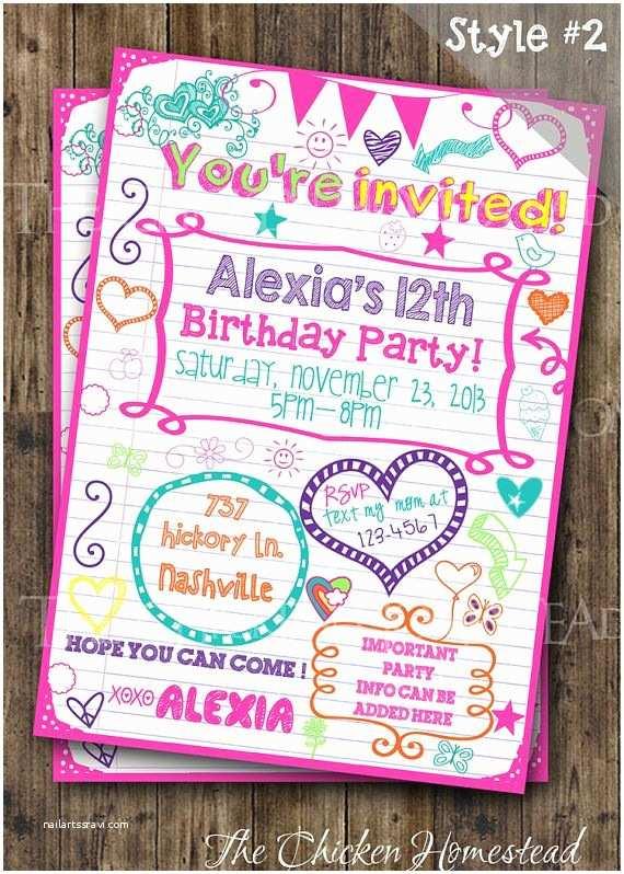 Teenage Party Invitations Pinterest • the World's Catalog Of Ideas