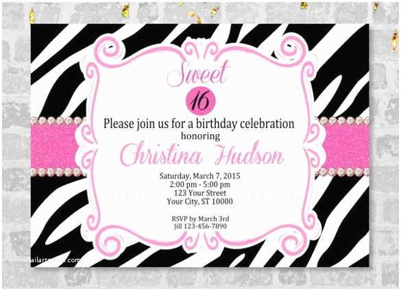 Teen drama party invitations