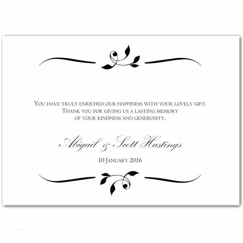 Thank You Message for Wedding Invitation Wedding Invitation Thank You Message