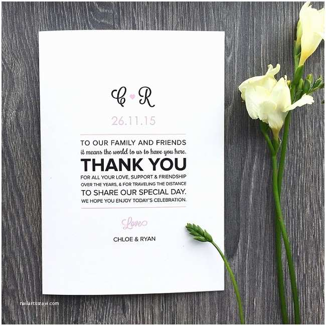 Thank You Message for Wedding Invitation Wedding Program Thank You Message Everafterguide