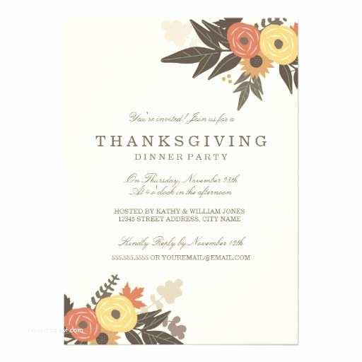 Thanksgiving Wedding Invitation Wording Fall Foliage Thanksgiving Dinner Invitation Card