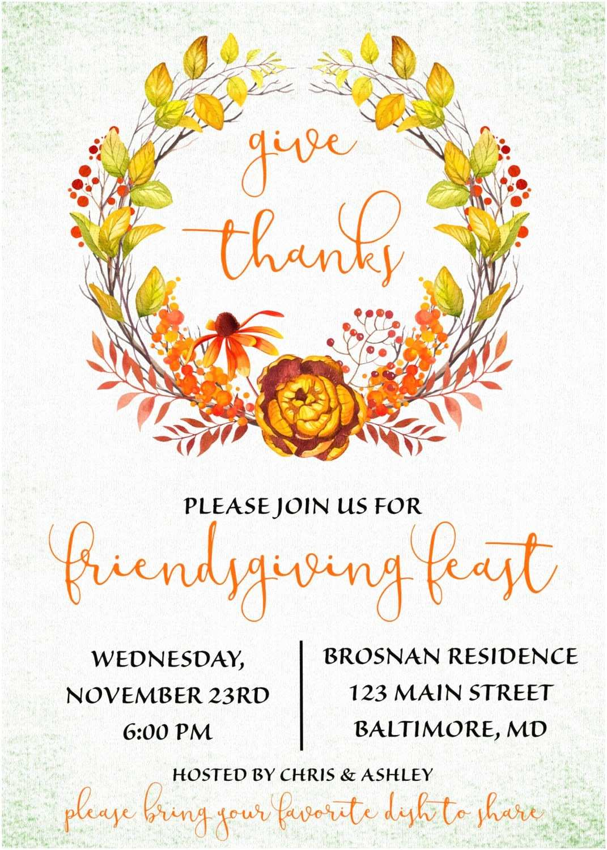 Thanksgiving Wedding Invitation Wording Friendsgiving Invitation Wording Like This Item