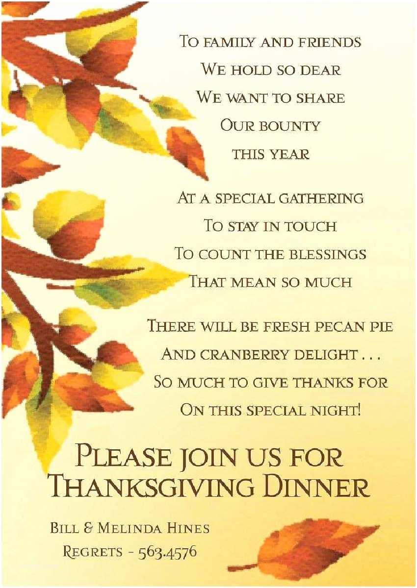 Thanksgiving Wedding Invitation Wording Potluck Invitation Wording
