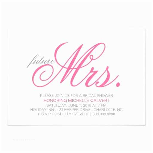 The Future Mr and Mrs Wedding Invitation Bridal Shower Invitation