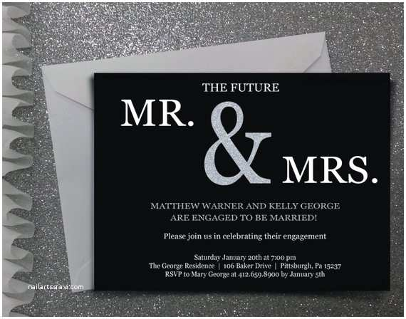 The Future Mr and Mrs Wedding Invitation Future Mr & Mrs Engagement Party Invitation Digital File