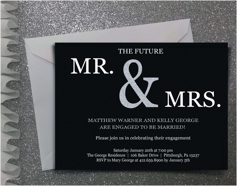 The Future Mr and Mrs Wedding Invitation Future Mr & Mrs Engagement Party Invitation Digital File