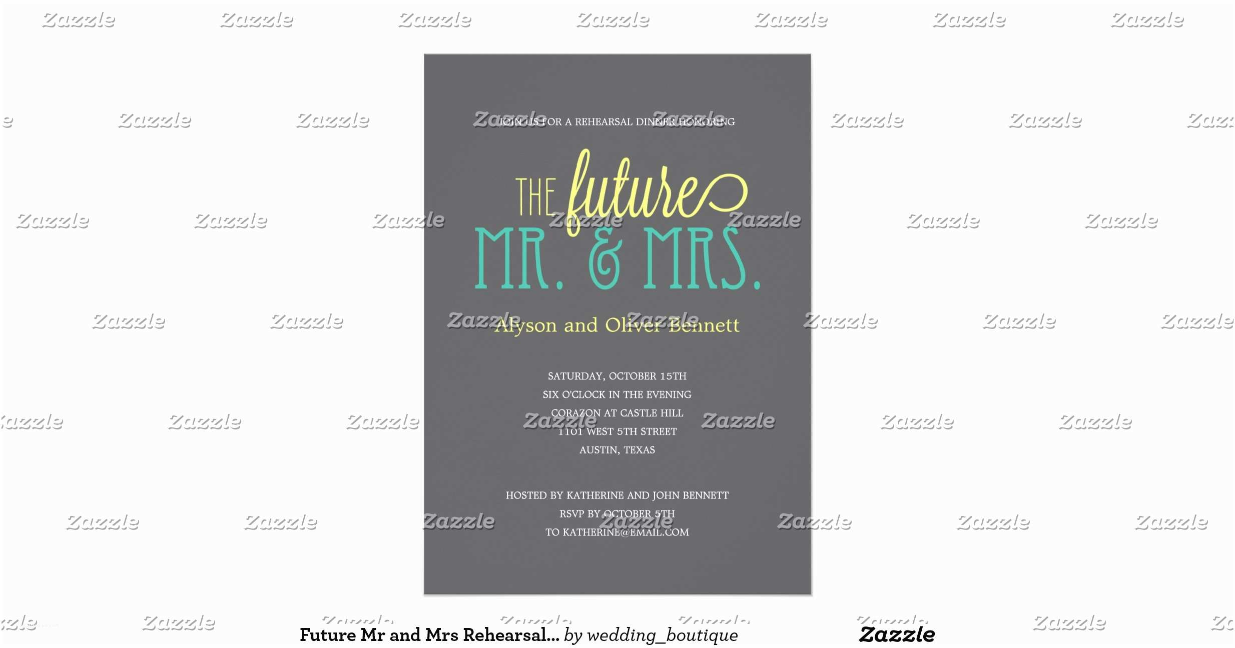 The Future Mr and Mrs Wedding Invitation Future Mr and Mrs Rehearsal Dinner Wedding Shower 5x7