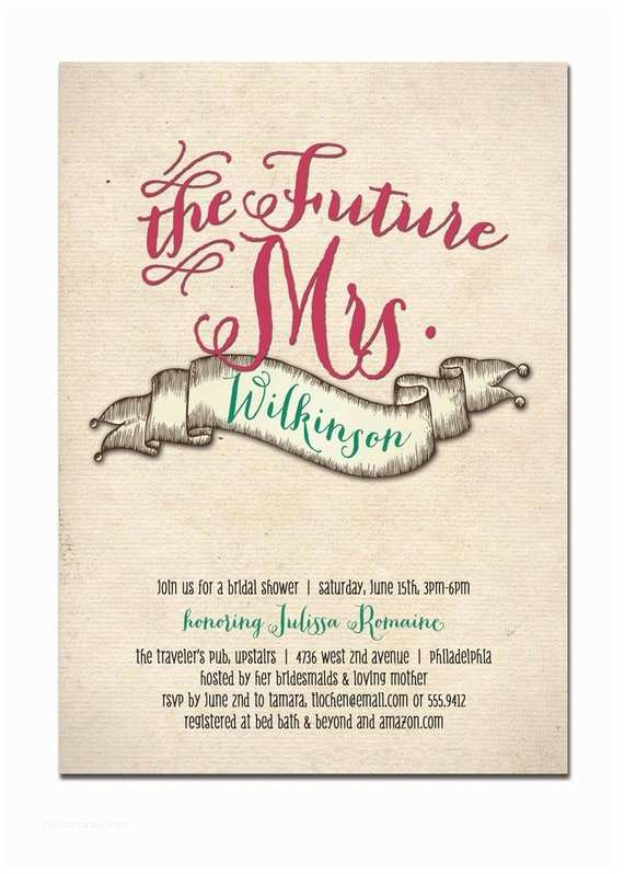 The Future Mr and Mrs Wedding Invitation Items Similar to the Future Mrs Bridal Shower Invitation