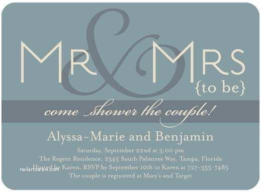 The Future Mr and Mrs Wedding Invitation Mr and Mrs Bridal Shower theme Trueblu