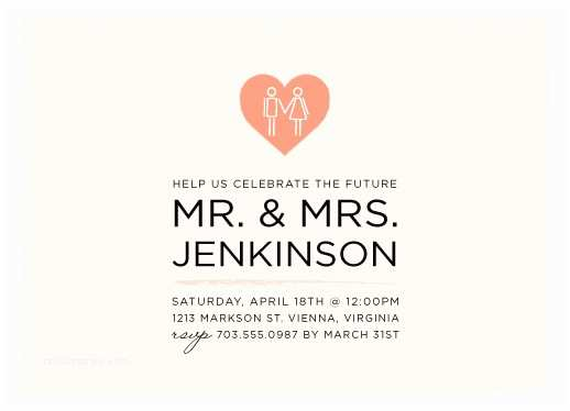 The Future Mr and Mrs Wedding Invitation Party Invitations Future Mr & Mrs at Minted