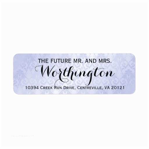The Future Mr and Mrs Wedding Invitation Personalized Custom Wedding Future Mr and Mrs Label