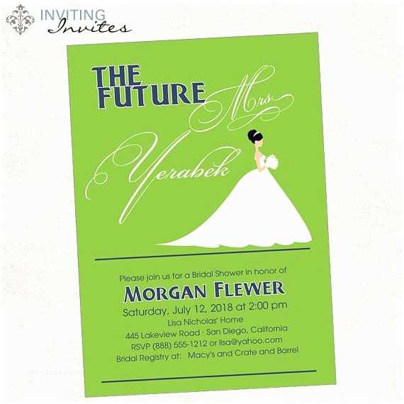 The Future Mr and Mrs Wedding Invitation the Future Mrs Bridal Shower Invitation Printable Digital